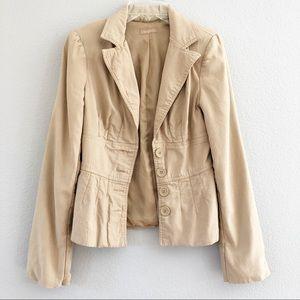 Twenty One Tan Blazer Jacket Sz Small